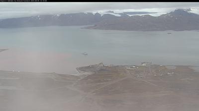 Vue webcam de jour à partir de Ny Ålesund › North East: Kongsfjorden