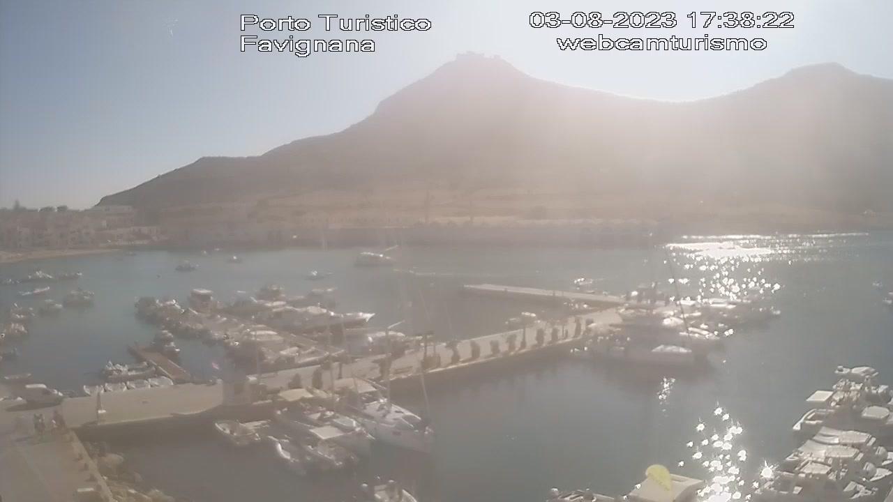 Webcam Favignana › North-West: Porto
