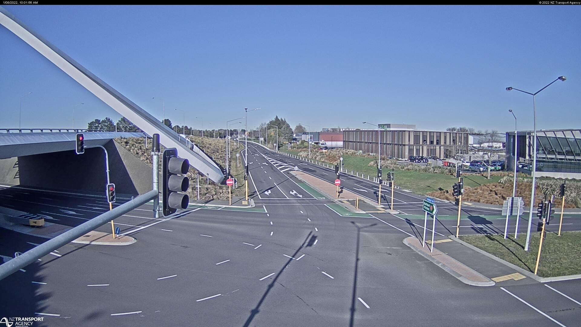 Webcam Harewood › North: SH1 Memorial Ave West, Christchu