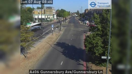 Webcam Acton: A406 Gunnersbury Ave/Gunnersbury Ln