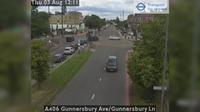 Acton: A Gunnersbury Ave/Gunnersbury Ln - El día