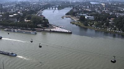 Daylight webcam view from Koblenz: Deutsches Eck