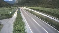 Mezzolombardo: SS al km , in localit� - Nord (comune di) - vista con direzione nord - Recent