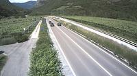 Mezzolombardo: SS al km , in localit� - Nord (comune di) - vista con direzione nord - El día