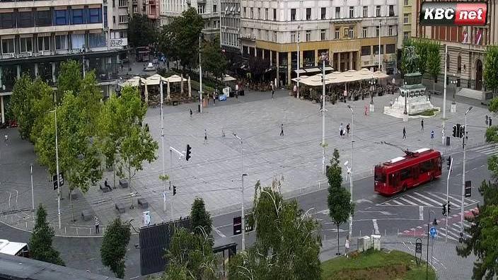 Webcam Stari Grad: Belgrade Live − Trg republike