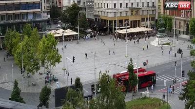 Vista de cámara web de luz diurna desde Stari Grad: Belgrade Live − Trg republike