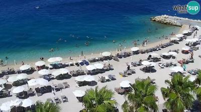 Gornje Igrane: Podgora - beach, HD PTZ cam
