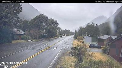 Daylight webcam view from Arthur's Pass › East: SH73 Arthurs Pass