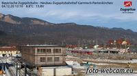 Garmisch-Partenkirchen: Bayerische Zugspitzbahn - Neubau Zugspitzbahnhof - Overdag