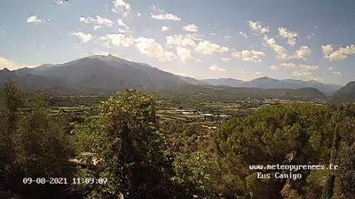 Molitg-les-Bains: Webcam de Eus - Le Canigou