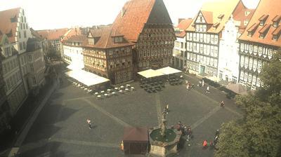 Daylight webcam view from Hildesheim: Marktplatz