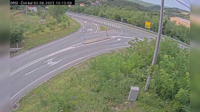 Vue webcam de jour à partir de Črni Kal: G1 10, Kastelec − Katinara