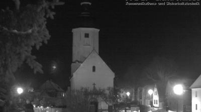 Rehbach: Wetterbild aus Leipzig - Richtung Dorfkirche