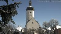 Rehbach: Wetterbild aus Leipzig - Richtung Dorfkirche - Dia