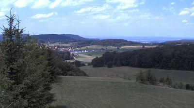 Daylight webcam view from Holzelfingen: Skilift Salach − Bergstation − Wintersport Arena.com