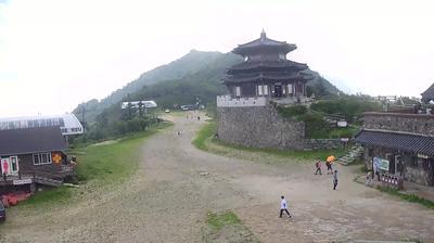 Daylight webcam view from Tŏgyu san: Deokyusan Resort