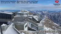 Grainau: Wetterwarte Zugspitze - Blick �ber den Gipfel nach Osten - El día