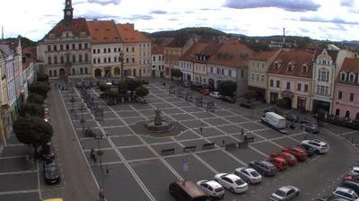 Daylight webcam view from Česká Lípa: City Square webcam North Bohemia Czech Republic