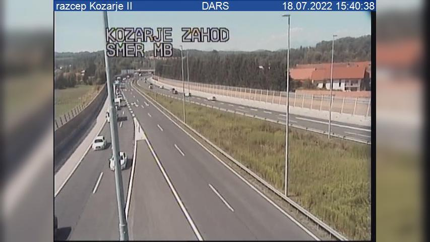 Webcam Podsmreka: A2/E61, Ljubljana − zahodna obvoznica,