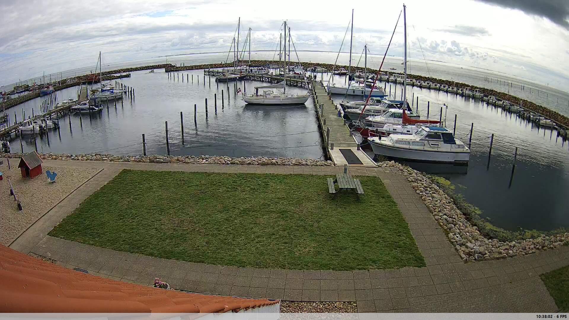 Webcam Spodsbjerg: havn NO