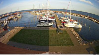 Vue actuelle ou dernière à partir de Spodsbjerg: havn NO