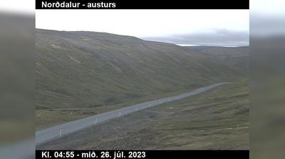 Current or last view from Talknafjordur: Gautsdalur