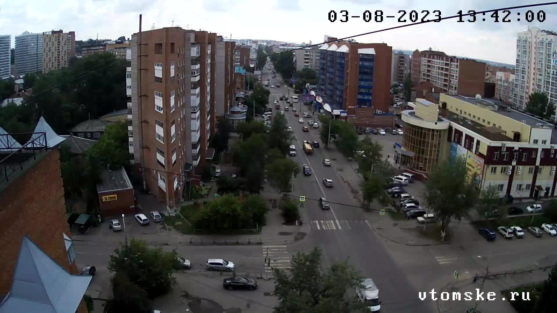 Webcam Tomsk: Перекресток пр. Ленина − пер. Тихий