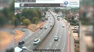Vue webcam de jour à partir de North West London: A406 Neasden Lane
