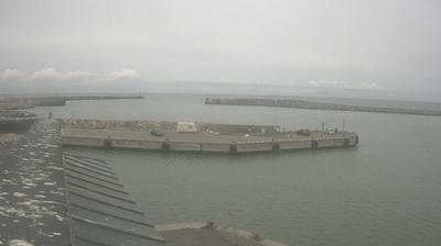 Vista de cámara web de luz diurna desde Hirtshals: Havn − Dækmolen