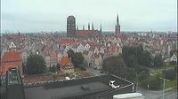 Ultima vista de la luz del día desde Gdańsk: Główne Miasto