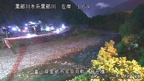 Webcam 芦崎: Kurobe River − Otozawa