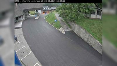 Vista actual o última desde Zgornje Jezersko: R1 210 − Spodnje Jezersko, prehod Jezersko