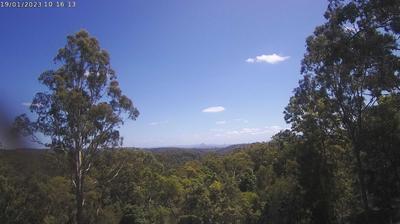 Vue webcam de jour à partir de Bootawa: Glass House Mountains