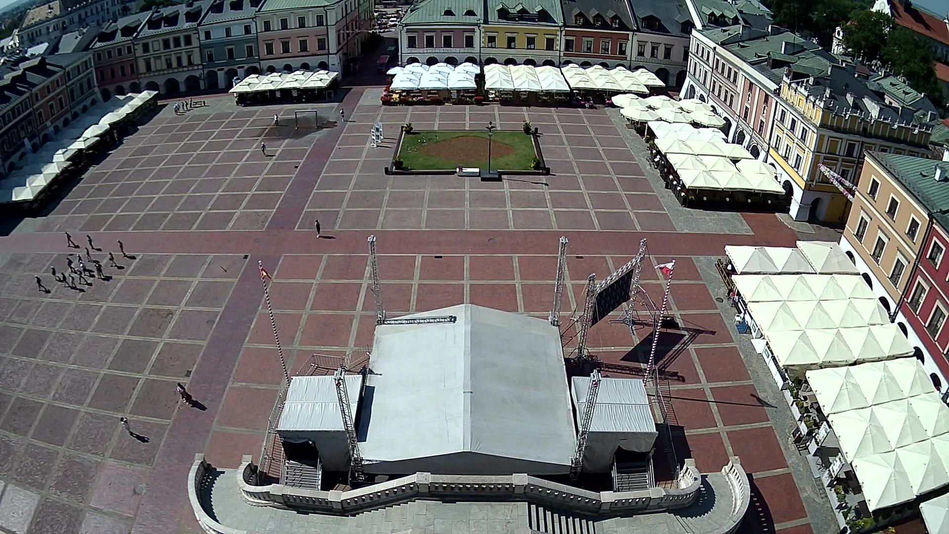 Webkamera Zamość: Market square, Zamosc