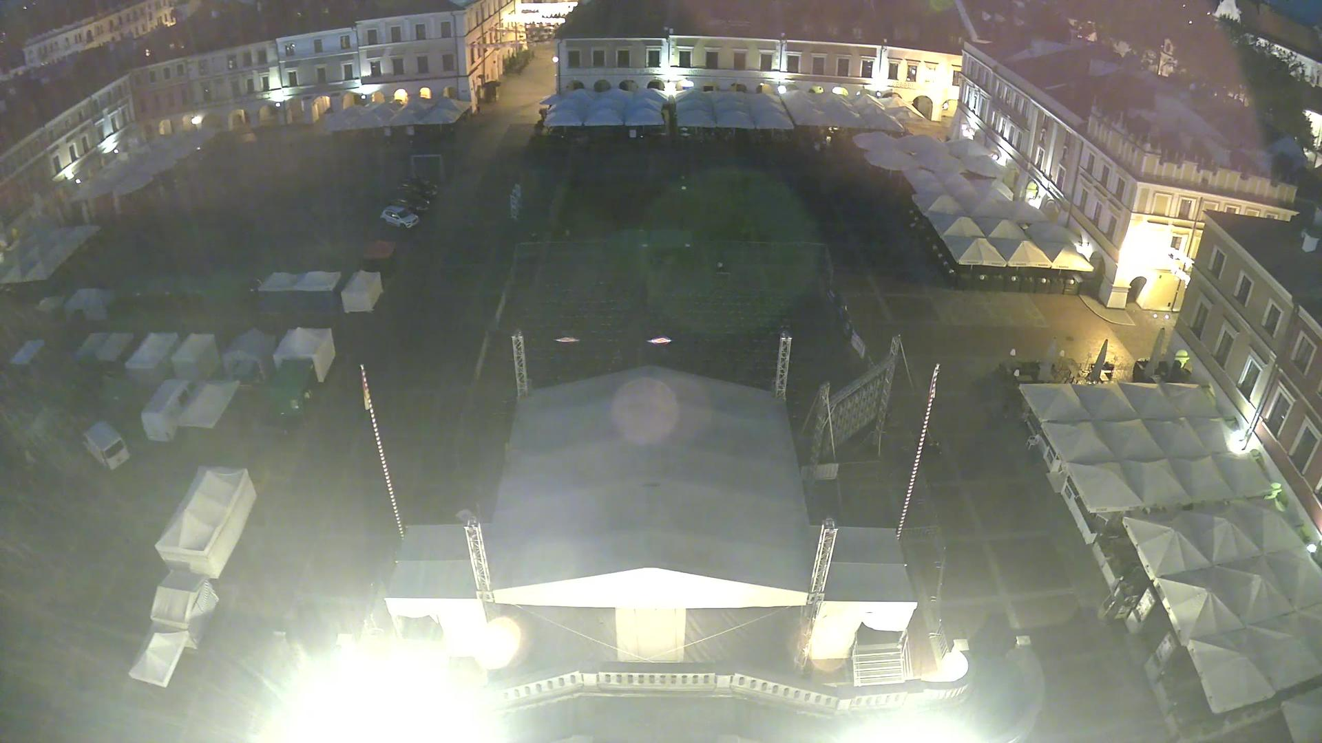 Webcam Zamość: Market square, Zamosc