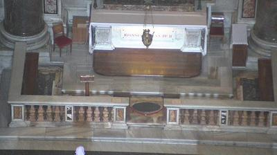 Vue webcam de jour à partir de Vatican City: Tomb of Pope John Paul II