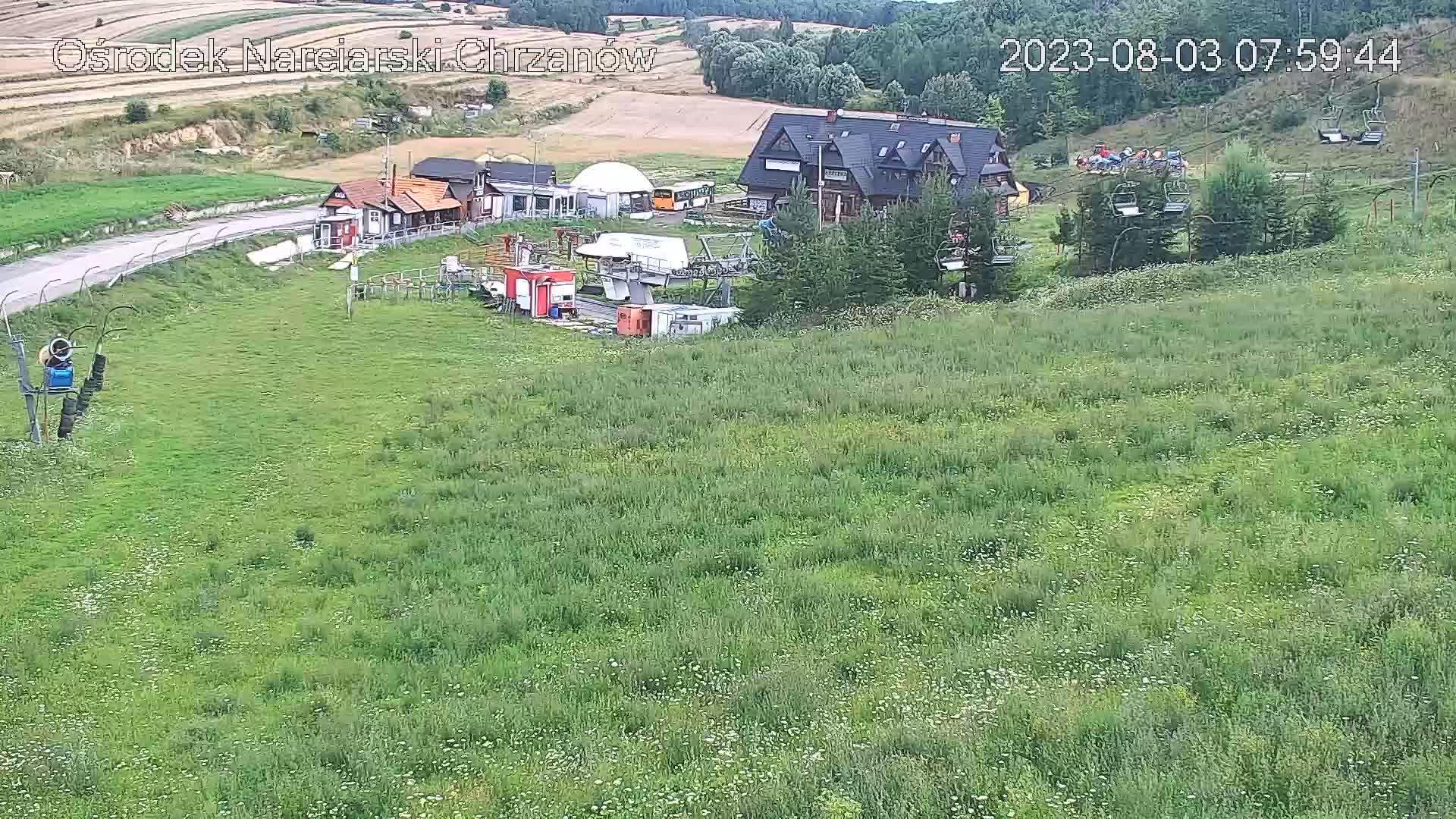 Webcam Chrzanów: Ski slope view, Chrzanow (Lubusz Provinc