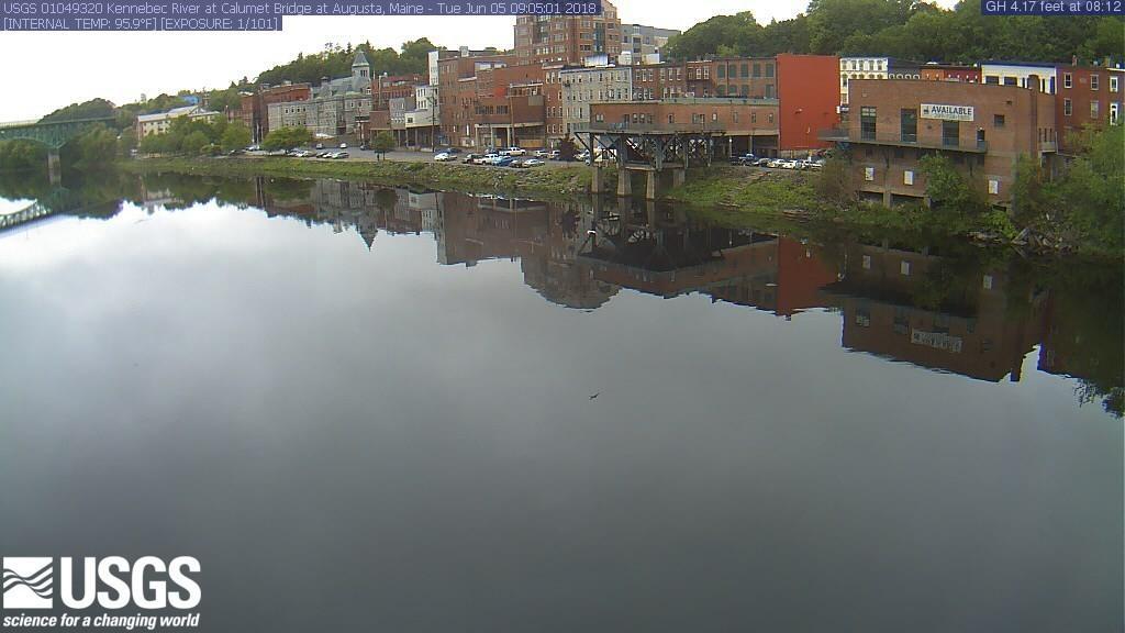 Webcam Augusta: Kennebec River