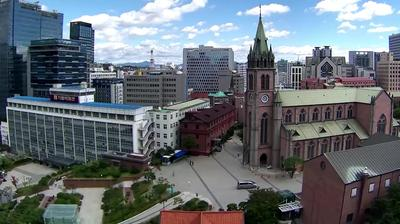 Daylight webcam view from Myeong dong: Myeongdong Cathedral