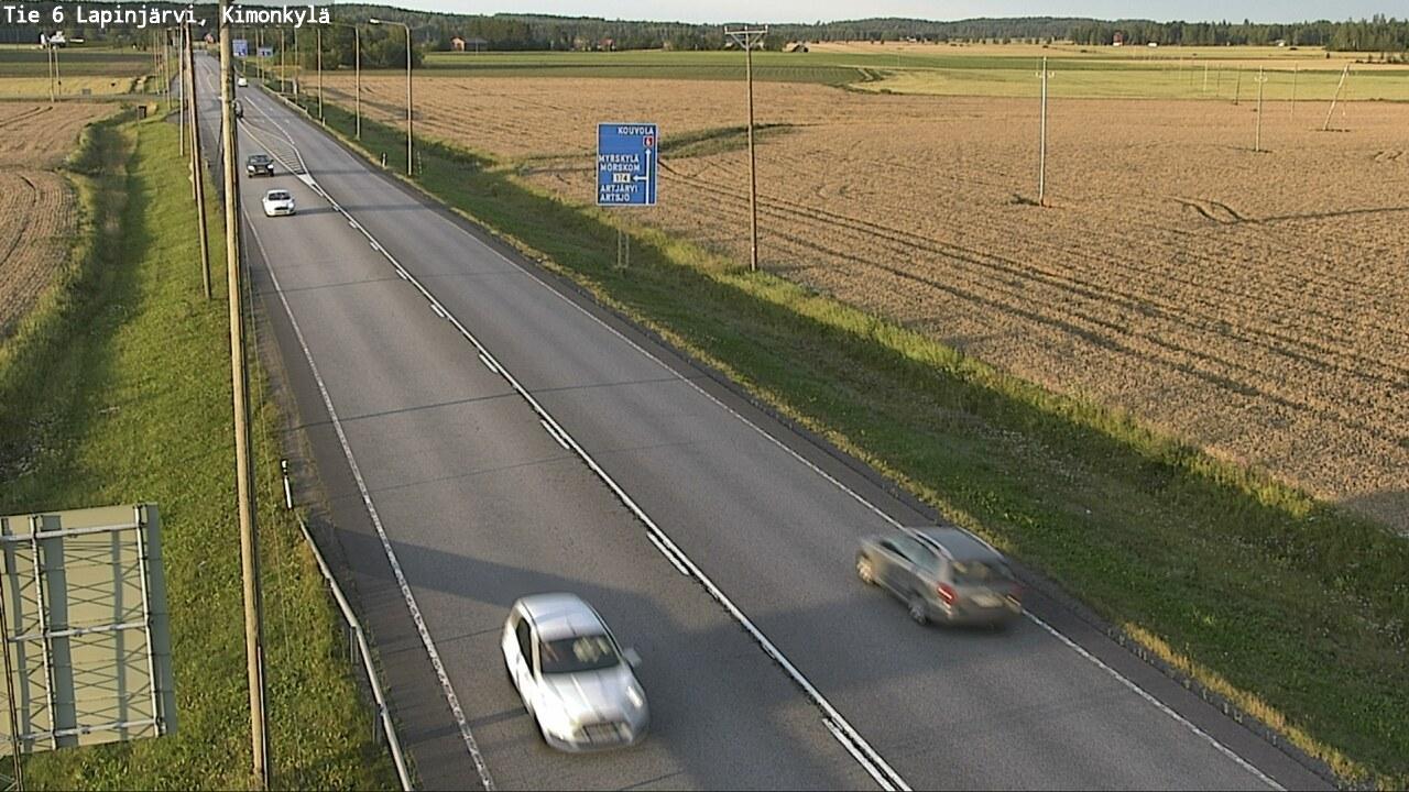 Webkamera Lapinjärvi: Tie 6 Kimonkylä − Kouvolaan