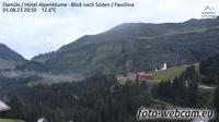 Gemeinde Damuls: Damüls - Hotel Alpenblume - Blick nach Süden - Faschina