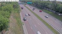 Hagersten-Liljeholmens stadsdelsomrade: Fru�ngen (Kameran �r placerad p� E/E S�dert�ljev�gen i h�jd med Fru�ngen (tunnelbanebron) och �r riktad mot Stockholm - Dia