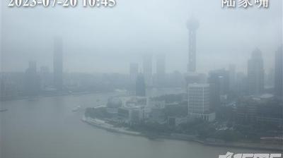 Vista de cámara web de luz diurna desde Huangpu › North: Oriental Pearl TV Tower