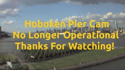 Daylight webcam view from Hoboken: Pier A