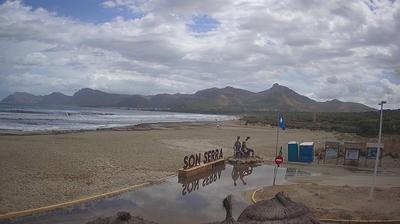Vue webcam de jour à partir de Santa Margalida: Son Serra de Marina