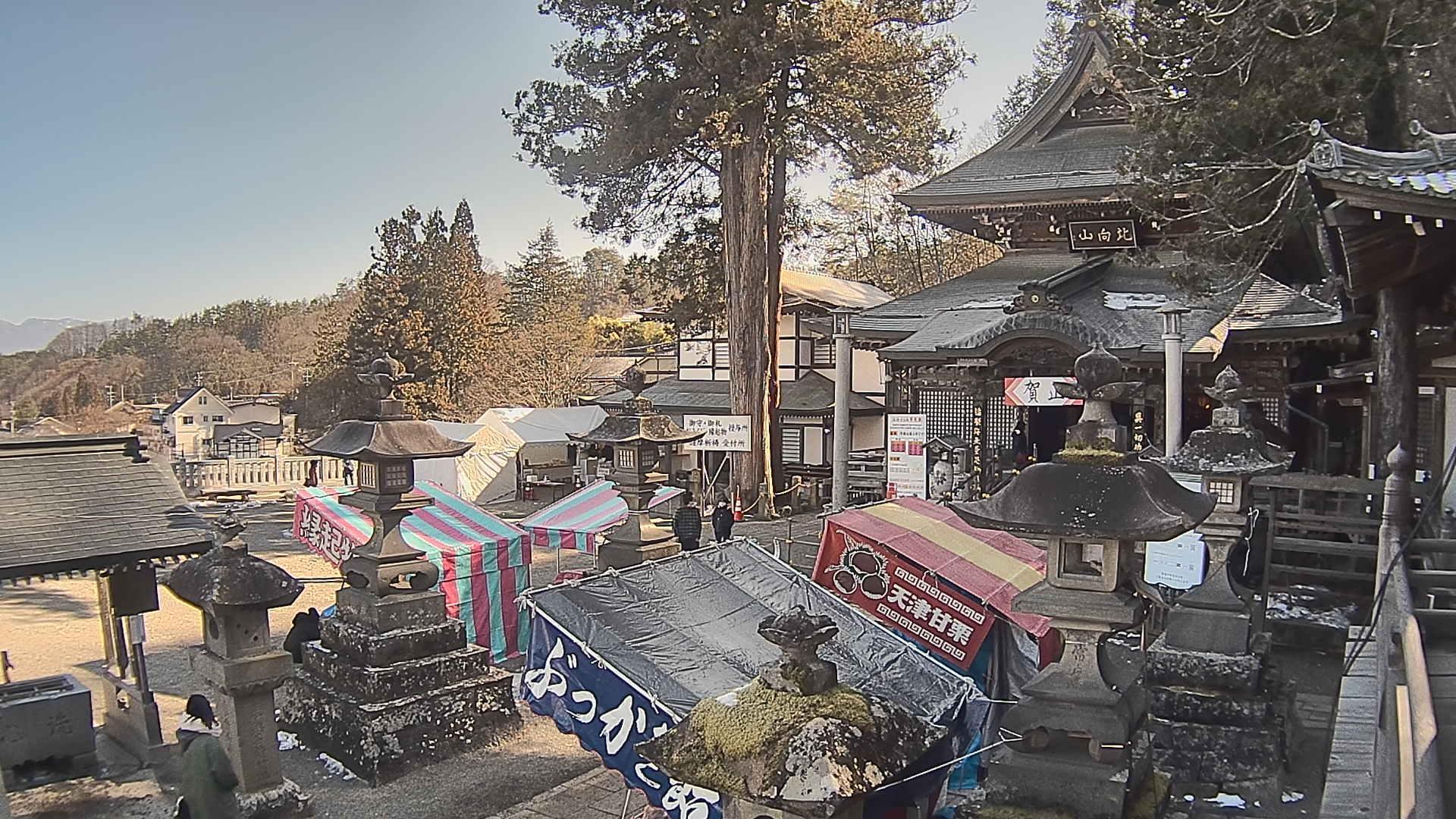 Webcam 別所温泉: 上田市 北向観音