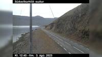 Last daylight view from Holmavik: Þröskuldar