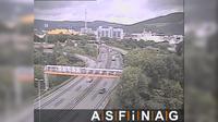 Linz: A, bei Anschlussstelle VOEST, Blickrichtung Freistadt - Km , - El día