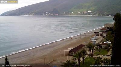 Daylight webcam view from Gruzinskoye Ushchel'ye: Gagra
