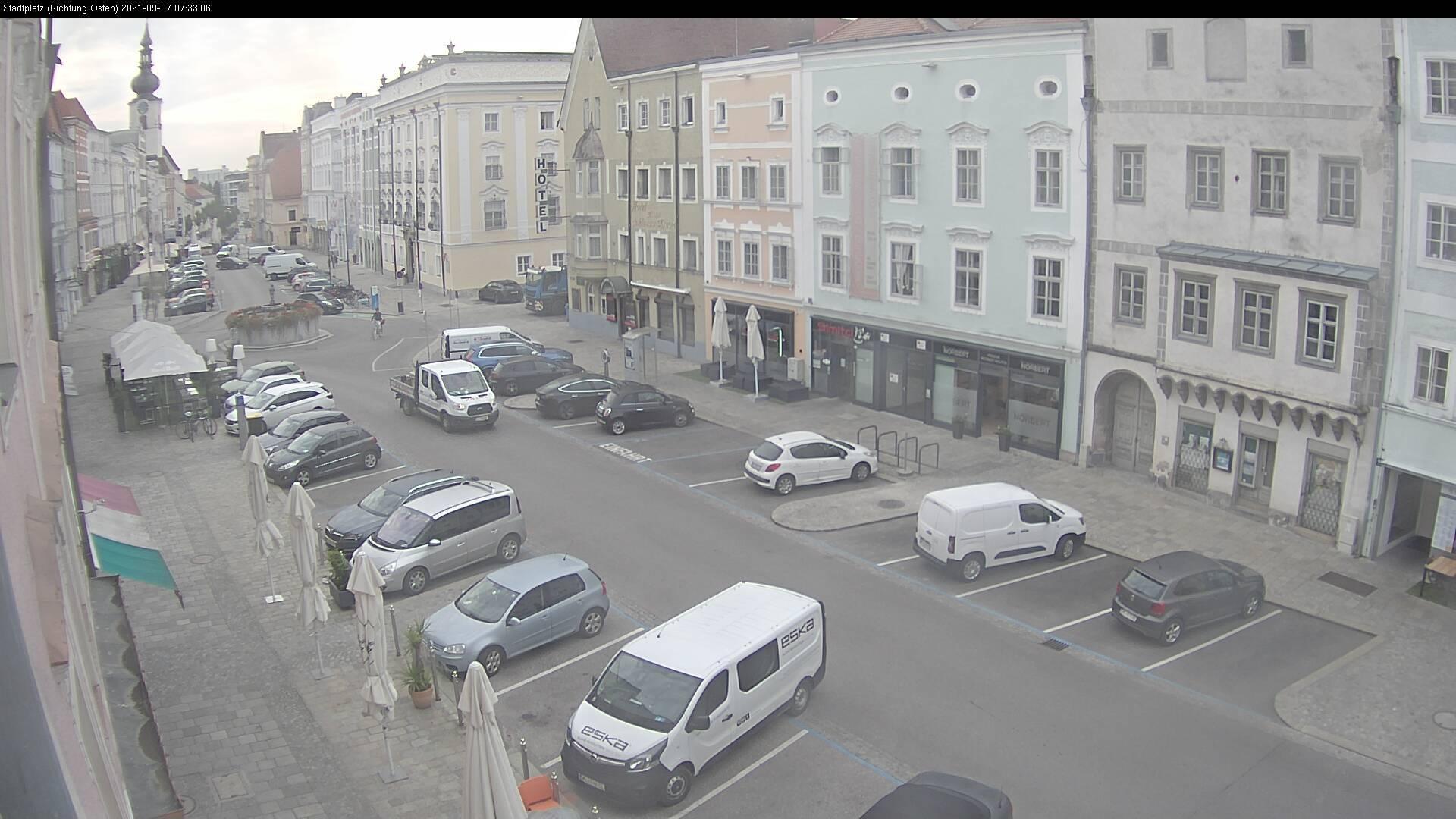 Webkamera Pernau: Wels − Kaiser-Josef-Platz